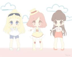 Cool summer chicks adoptables [CLOSED] by Cheriin