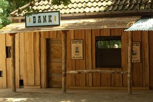 Wildwest Bank by steppelandstock