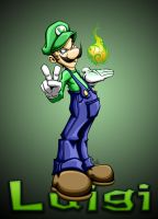 luigi with bg by pnutink