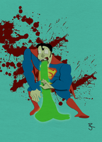 zombie superman by jhr921