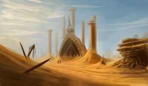 Desert Temple by drazaman