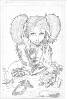 Harley Quinn - pencils by teamzoth