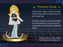Super Smash Bros Trophy. Princess Annie by AilwynRaydom
