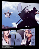 BLEACH 389 Aizen and Hitsugaya by mindzor