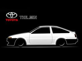 Toyota AE86 Toon by TheMin