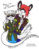 CHASE and CORRIN- Paintball by resuki