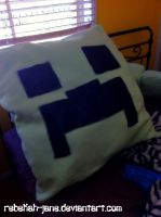 Creeper Pillow by Rebekah-Jane