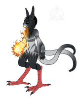 OC Ref: Flamel the Grem2 by SilverRomance