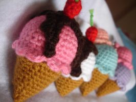 amigurumis ice cream by MirthaAmigurumis