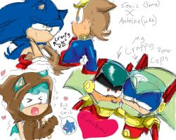 More Sonic archie yaoi sketches by SonicMiku