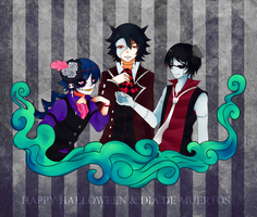Happy Halloween and Dia de Muertos by KuroiMamoru
