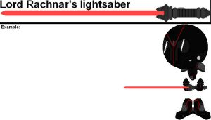 Weapons Try Out - Lord Rachnar's lightsaber by YellowNinja123
