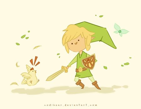 Link and Chicken by CodiBear