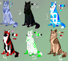Wolf Adoptables OPEN by IcePhoenix202
