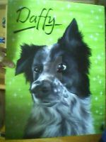 'Daffy' Border Collie by RozThompsonArt