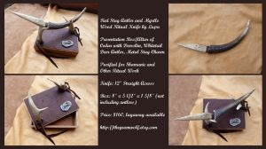 Stag and Myrtle Ritual Knife With Altar Box by lupagreenwolf