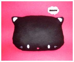 Kitty Plush Cushion by riaherod