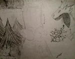 FB Suggestions 1 and 2 - Waterfall and Dragons by Miranthia