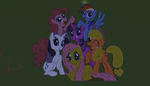 Mlp mane six: Pixelart by RedIceArrow