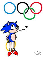 Sonic At The Olympics by VicGurg