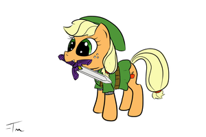 Applejack in Link's clothing by TanMansManTan