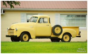 A Mellow Yellow GMC Truck by TheMan268