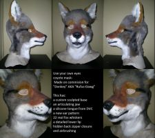 Use your own eyes-Coyote mask by xiamara13