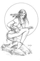 Tyndal, Tribal Scout by MitchFoust
