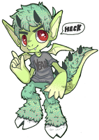 Satyr/Gargoyle adopt aution [open] by PsykoaktiveFantasi