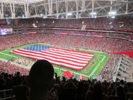 Giant U.S. Flag for Rams-Cardinals Game by BigMac1212