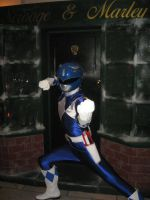 Blue power ranger cosplay by matt3335