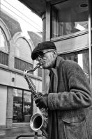 Street Saxophonist by Engazung