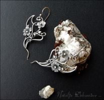 UntitledSilver earrings, handmade, wire jewelry by Atalia65