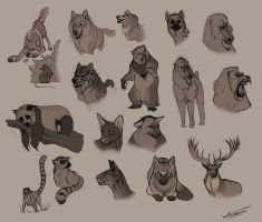 Animal Sketches - Part 1 by Autlaw