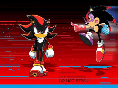 SHADOW and CHAOS!!! by chaosthehedgehog100