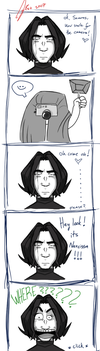 Snape and his ID photo by gilll