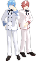 PJD Kaito and Akaito White Blazer by leonlivelks