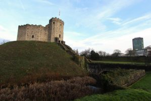 King of the Hill (Cardiff Castle) by DavidKrigbaum