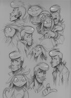 Dandy Sketches by zillabean