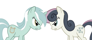 Discorded Lyra and Bon Bon by longsummer