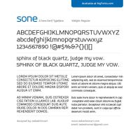 SONE Regular Typeface by akkasone