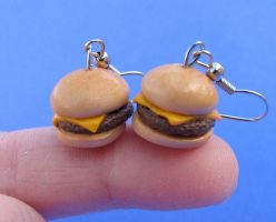 fast food cheeseburgers by MotherMayIjewelry
