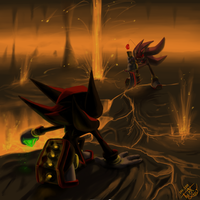Shadow VS Sh. Doll by TotoroTheFox