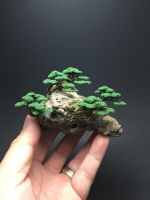Wire bonsai tree rock forest by Ken To by KenToArt