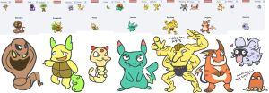 Pokemon Fusions by Spashai