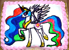 MLP: Princess Celestia Cake by Tifa-the-Strange