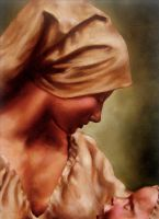 Madonna and Child by Gilbs