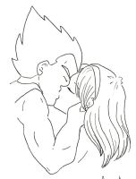 Vegeta and Bulma - Kiss by DBZ-Obsessed