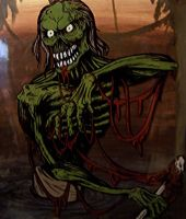 Swamp Zombie by GleamofDreams