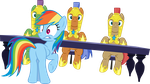 Rainbow Dash and Royal Guards Interrupted by Jeatz-Axl